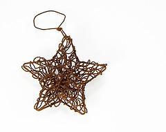 Adirondack Moose Christmas Ornament Laser Metal 4 inch - Cabin