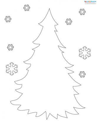 Printable Christmas tree Advent calendar