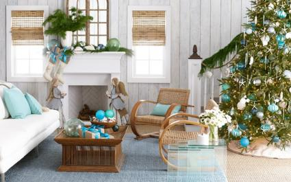 seaside splendor holiday decor by wisteria - Beach Themed Christmas Trees