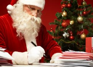 santa writing letters