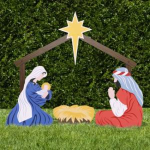 Classic Outdoor Nativity Set