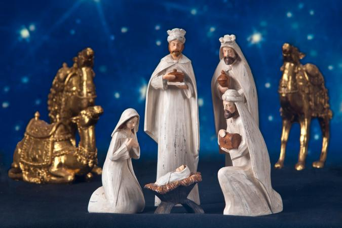 Wiseman in Nativity scene