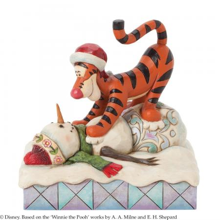 Jim Shore Tigger and Snowman figurine