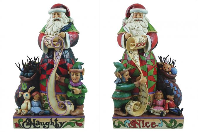 Two-Sided Naughty-Nice Santa