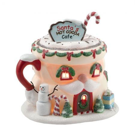 Department 56 Santa's Hot Cocoa Café