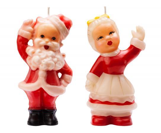 Vintage Santa Christmas Candles