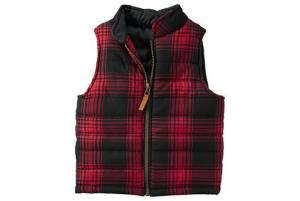 Carter's Plaid Puffer Vest