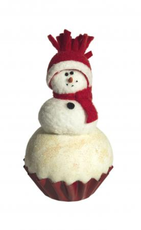 Snowman cupcake centerpiece