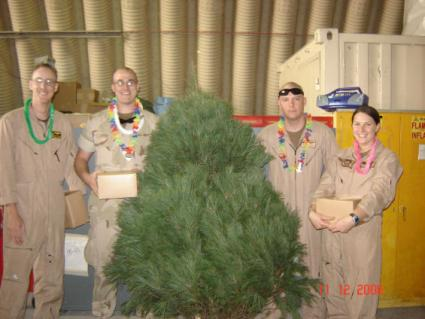 soldiers with tree