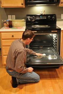 How to clean self cleaning oven