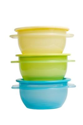 Plastic food storage containers.