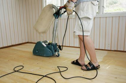 Stripping a hardwood floor