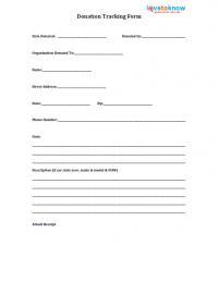 printable donation tracking form