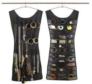 Little Black Dress Hanging Jewelry Organizer