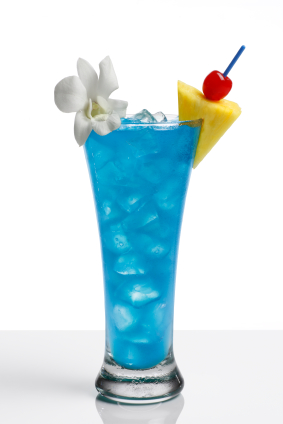 Blue lagoon cocktail  Blue Curacao, Coconut and Rum