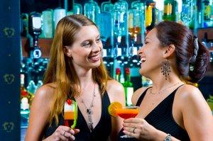Enjoying cocktails