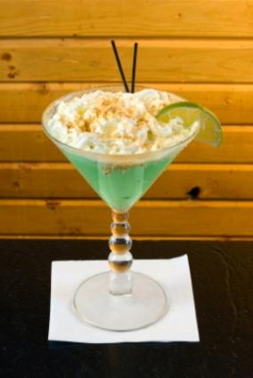 Key lime cocktail with whipped cream