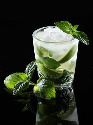 Mojito made with simple syrup