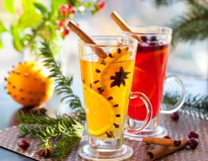 Christmas Punch with Star Anise and Cinnamon