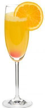 Mimosa in a Champagne flute
