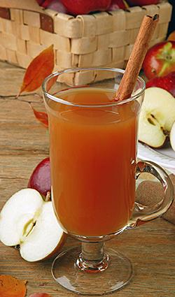Rustic Setting with Wassail and Apples