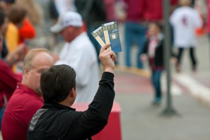 Man Tries To Sell Game Tickets