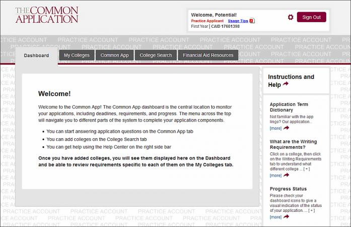 Tips for Using the Common Application
