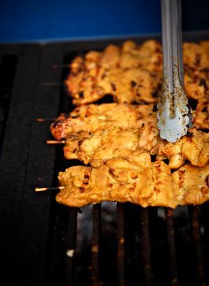 Chicken Satay on Grill