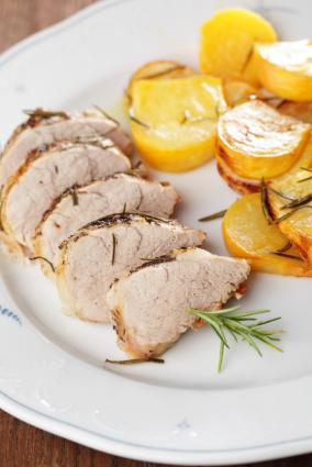 Baked Turnips with Pork Tenderloin