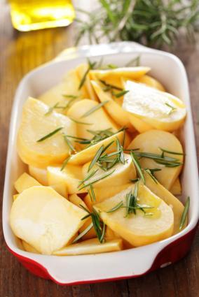 Sliced Turnips
