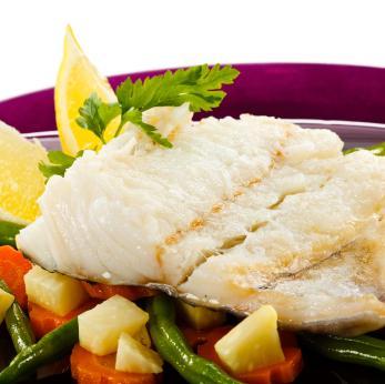 Boiled cod