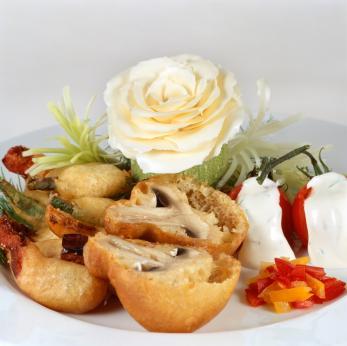 Mushroom fritter