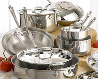All-Clad Tri-Ply Stainless Steel Cookware