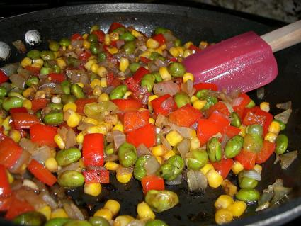 Succotash with lima beans and corn