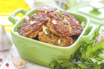 Pan-fried turkey patties