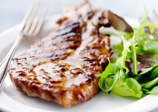 Marinated pork chop