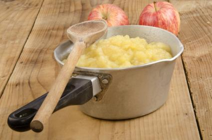 Pan of applesauce