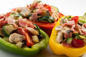 Farmer's Medley stuffed peppers