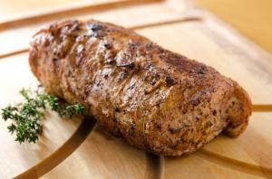 Oven-roasted pork loin