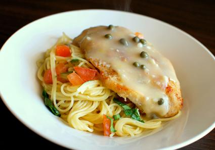 Angel Hair Pasta With Chicken Piccata