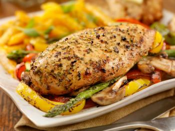 Lemon herb chicken breast
