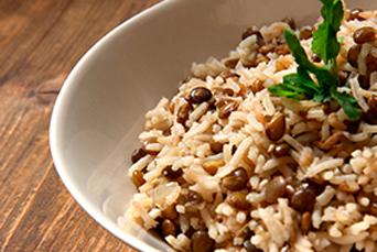 Lentils with Coconut Rice