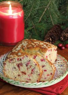 cranberry orange almond loaf