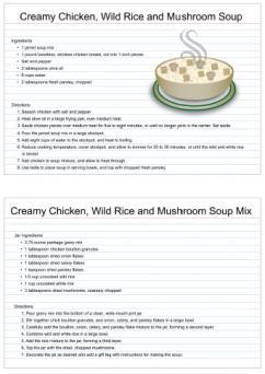 creamy chicken, wild rice and mushroom soup mix