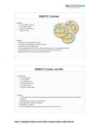 M&M's Cookies in a Jar