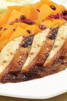 Glazed Turkey with Sweet Potatoes and Cranberries