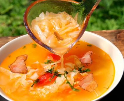 cabbage soup with bacon