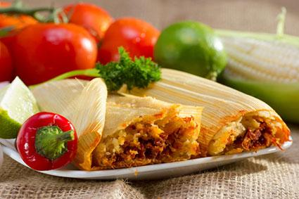Mexican tamales on plate