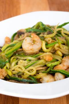 shrimp with zucchini noodles