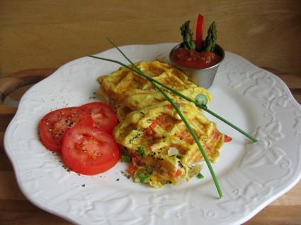 Waffled Asparagus Frittata